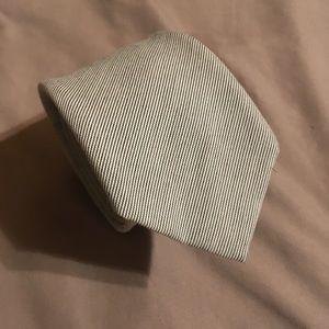 Alexander Olch White Italian Cotton Handmade Tie